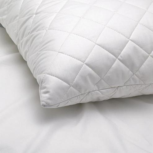 Alicia Standard Quilted Ball Fibre Pillows - White