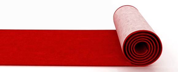 Carpet Runner - Red - 1M Wide