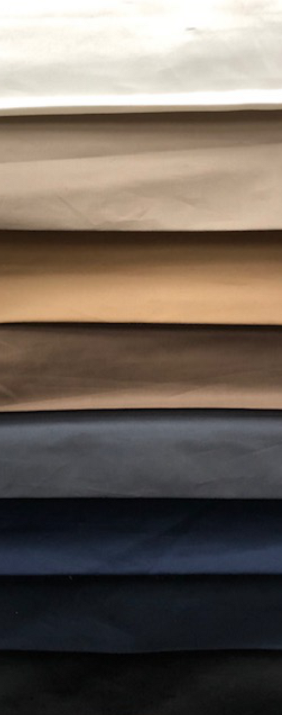 Stretch Cotton Poplin Plain - Various Colors - 150CM