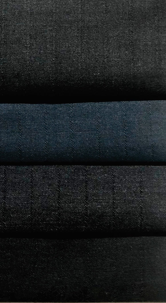 Suiting Fabric, Wider Stripe (Poly Viscose) - Various Colours - 150cm