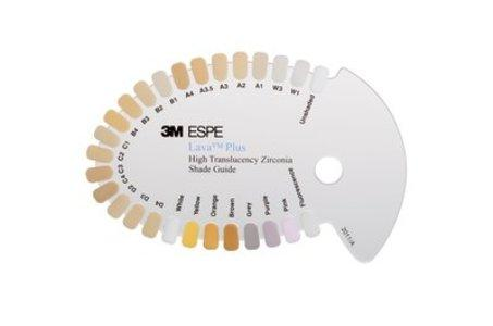 Lava Plus Zirconia Shade Guide
