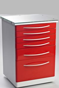 Dental Cabinet with Top Glass