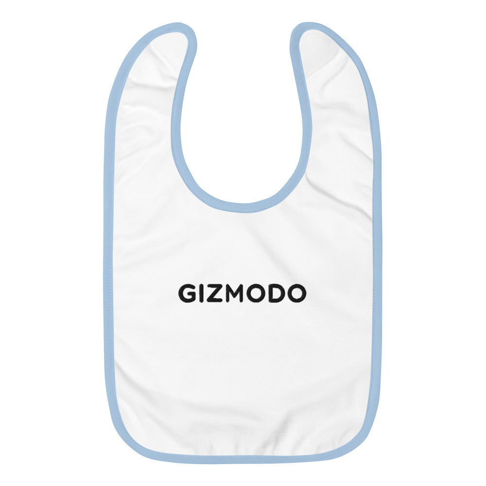 Gizmodo Embroidered Baby Bib