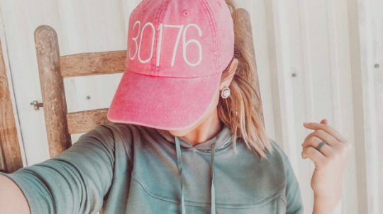 embroidered zip code adams hat