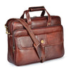 Wildhorn Genuine Leather Brown 15 inch Briefcase Laptop Bag for Men with Padded Compartment | Leather Travel Messenger Bag with Laptop Compartment(MB592) - WILDHORN