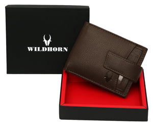 WildHorn® RFID Protected Genuine High Quality Leather Wallet for Men - WILDHORN