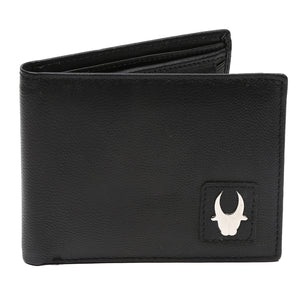 WildHorn® RFID Protected Genuine High Quality Black Leather Wallet,Keychain & Pen Combo for Men - WILDHORN