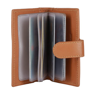 WildHorn Genuine Leather Brown Credit Card Holder - WILDHORN