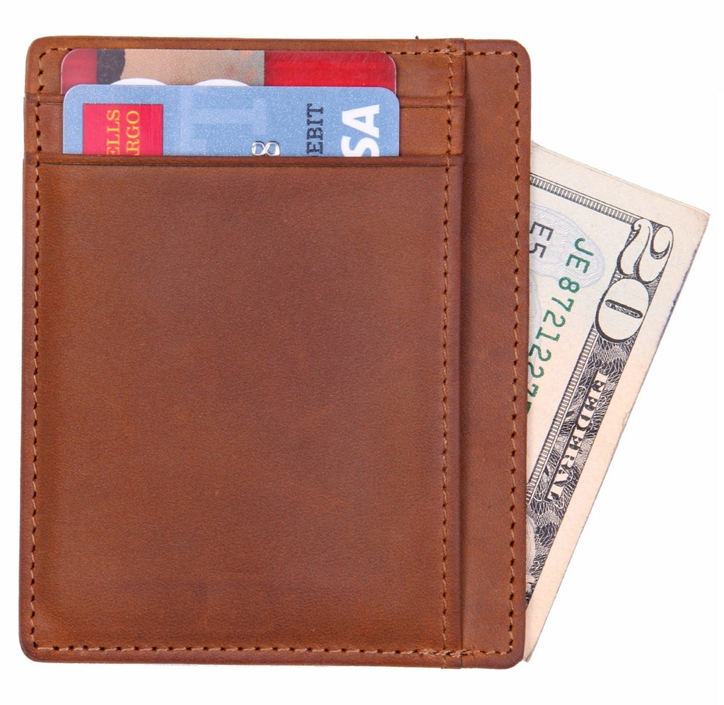 WildHorn Urban Edge Vintage Genuine Leather Credit Card Holder - WILDHORN