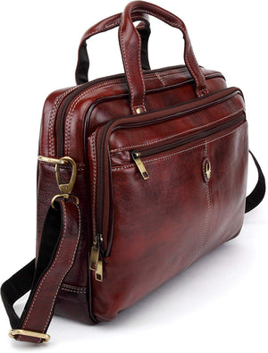 WildHorn Leather 39.37 cms Brown Messenger Bag (WHBB101) - WILDHORN
