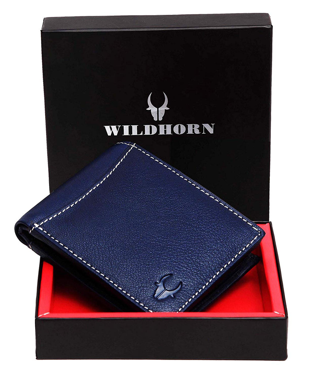 WildHorn Blue Men's Wallet - WILDHORN
