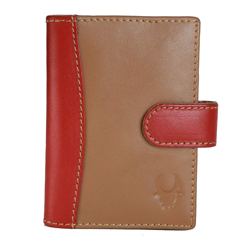 WildHorn Genuine Leather Tan Credit Card Holder - WILDHORN