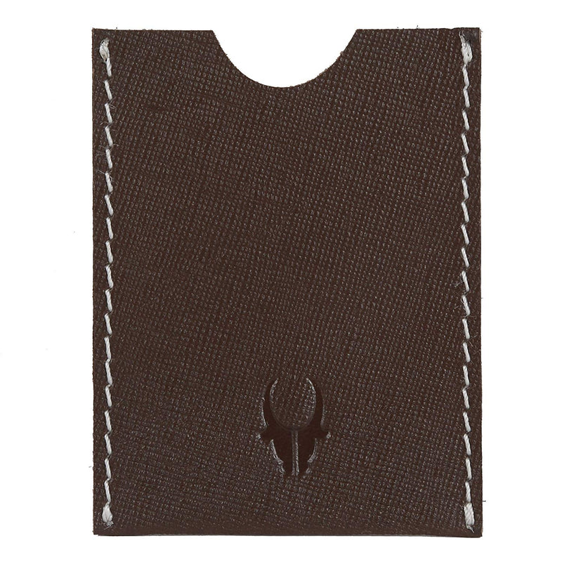 WildHorn Brown Hand Crafted Genuine Leather Credit Card Holder - WILDHORN