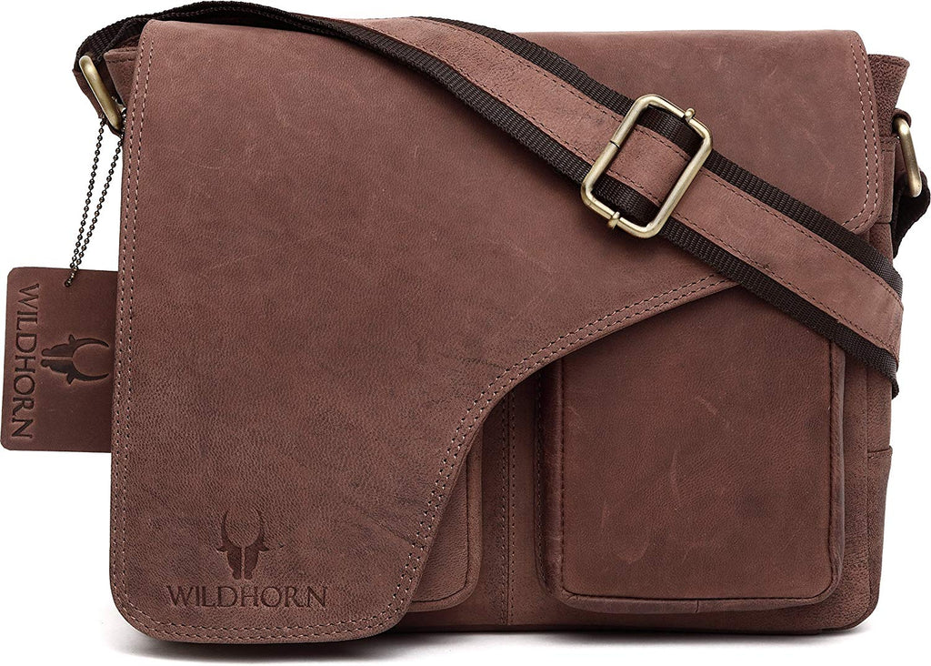 Wildhorn genuine Leather Work Messenger Bag for Men | Everyday Multipurpose Traveller Bag(WHM204) - WILDHORN