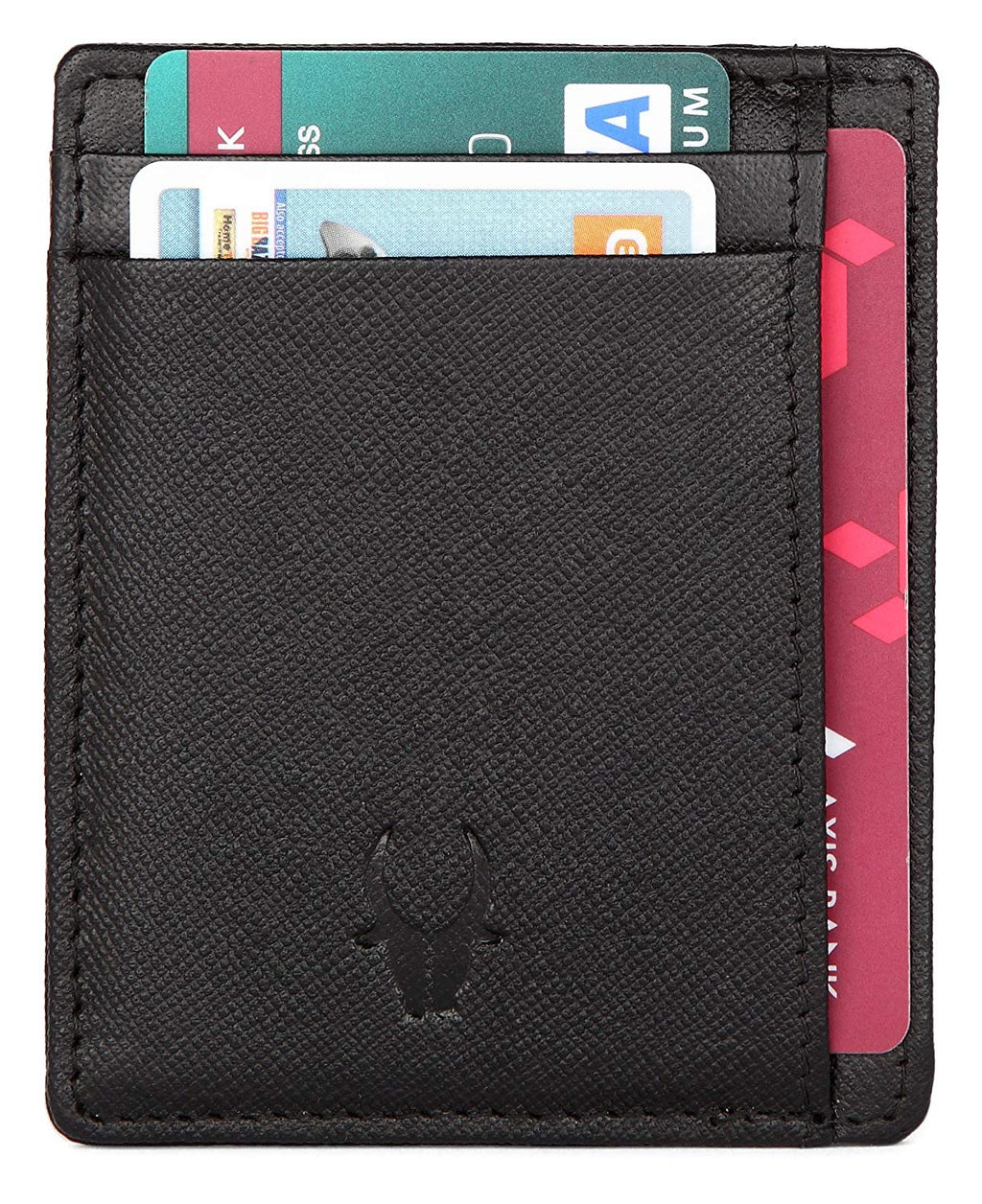 WildHorn Black Credit Card Holder - WILDHORN