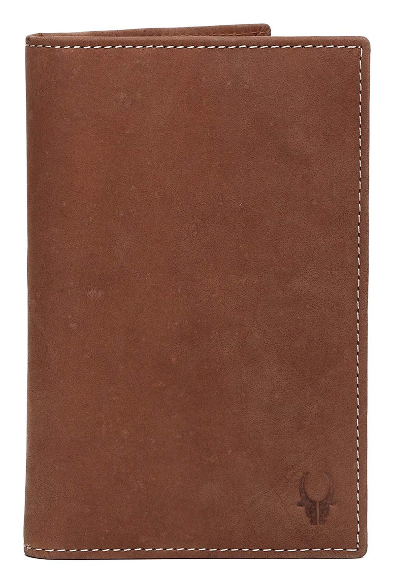 WildHorn 100% Brown Genuine Leather Travel Passport Holder - WILDHORN