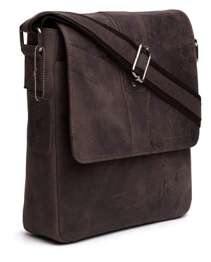 WildHorn Leather 24.9936 cms Brown Messenger Bag (MB254) - WILDHORN