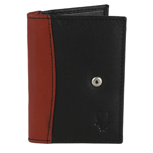 WildHorn Black Genuine Leather Credit Card Holder - WILDHORN