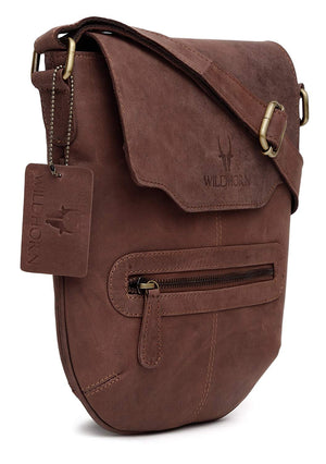 WildHorn Urban Edge Genuine Leather Messenger Bag - WILDHORN