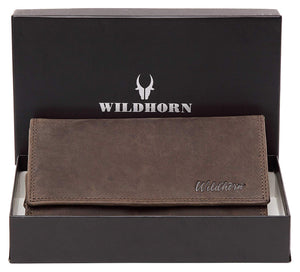 WildHorn Olivia RFID PROTECTED Genuine Leather Wallet for Women stylish|Purse for Women/Girls - WILDHORN