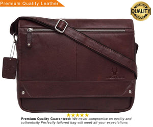WildHorn Leather Brown Laptop Messenger Bag - WILDHORN