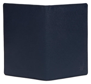 WildHorn Men Blue Genuine Leather Passport Holder - WILDHORN