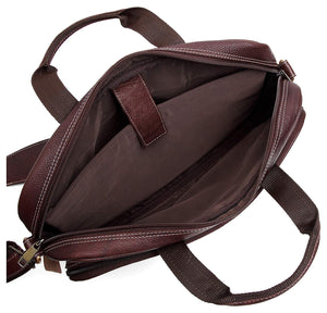 WILDHORN Leather 15.5 inches Brown Messenger Bag (WHBB101/1A) - WILDHORN