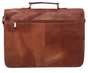 WildHorn Tan Vintage 100% Genuine Leather Laptop Messenger - WILDHORN