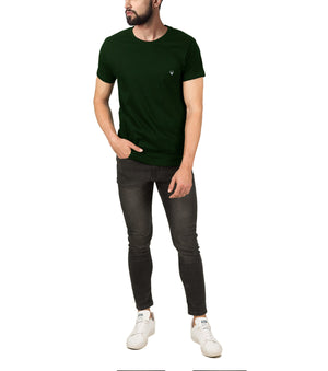 WILDHORN® 100% Cotton Regular Fit T-Shirt for Men - WILDHORN
