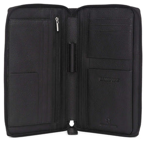 WildHorn Black Passport Cover (WH2040) - WILDHORN