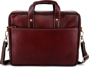 WILDHORN Leather 14 inches Bombay Brown Messenger Bag - WILDHORN