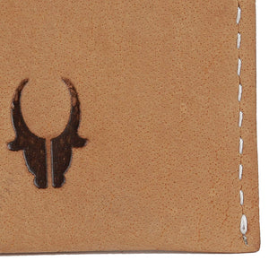 WildHorn Hand Crafted Tan Genuine Leather Credit Card Holder - WILDHORN