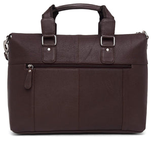 WildHorn Brown 100% Leather Men Laptop Messenger Bag - WILDHORN
