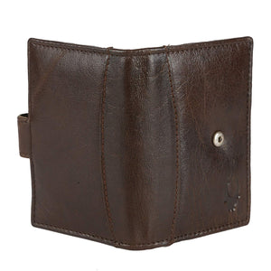 WildHorn Dark Brown Genuine Leather Credit Card Holder - WILDHORN