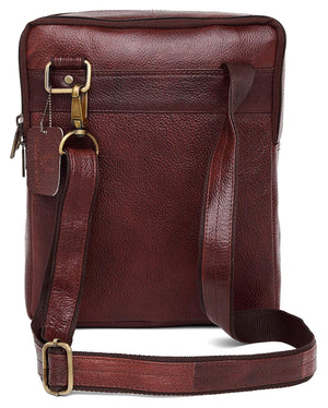 Wildhorn Genuine Leather Brown Sling Messenger bag for men | Everyday Multipurpose Crossbody Office Traveller bag(MB574 MAROON) - WILDHORN