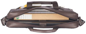 WILDHORN Leather 16 inches Brown Messenger Bag - WILDHORN