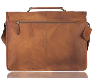 WildHorn 100% Genuine Leather (15.6 inch) Laptop Messenger Bag Dimension : L-15.5 inch W-4 inch H-12 inch - WILDHORN