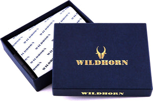 WildHorn Old River Men's High Quality Distress Hunter Leather Brown Card Holder - WILDHORN