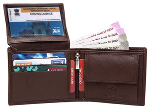 WildHorn Men Brown Genuine Leather Wallet Gift Set Combo - WILDHORN