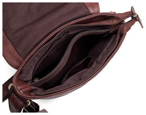 Wildhorn Genuine Leather Brown 8.5 inch Sling Messenger bag for men |Everyday Multipurpose Crossbody Office Traveller Tablet bag - WILDHORN