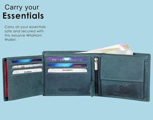 WildHorn Leather Wallet Combo | Leather Wallet for Men | Wallet for Men Leather | Wallet and Belt Combo for Men