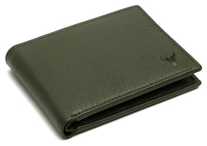 Napa Hide RFID Protected Genuine High Quality Leather Wallet & Pen Combo for Men (GREEN) - WILDHORN