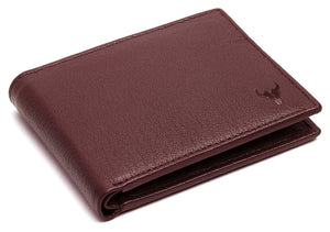Napa Hide RFID Protected Genuine High Quality Leather Wallet & Pen Combo for Men (MAROON) - WILDHORN