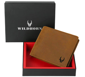 WILDHORN® Engraved Personalized Wallet for Men - Gift for Father, Husband ,Friend, Boyfriend, Brother & Son