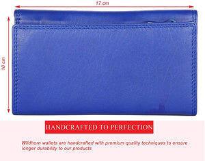 WildHorn Emily RFID PROTECTED Genuine Leather Wallet for Women stylish|Purse for Women/Girls - WILDHORN
