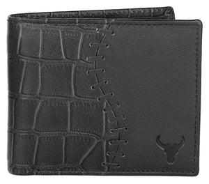 Napa Hide RFID Protected Genuine High Quality Leather Wallet & Pen Combo for Men ( BLACK) - WILDHORN