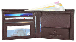 Napa Hide RFID Protected Genuine High Quality Leather Wallet & Pen Combo for Men (Brown) - WILDHORN
