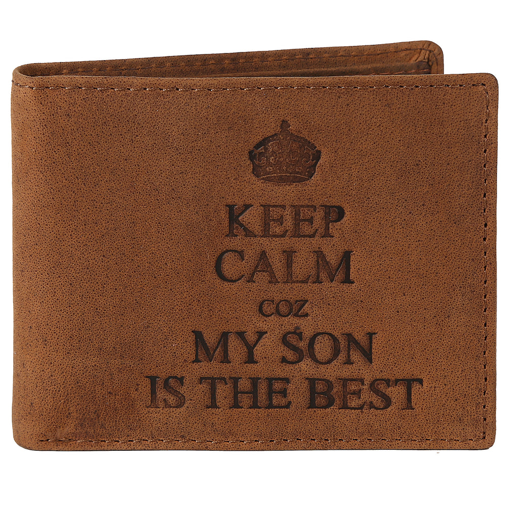 WILDHORN® Best Husband Men's Leather Wallet l Gift Hamper for Husband