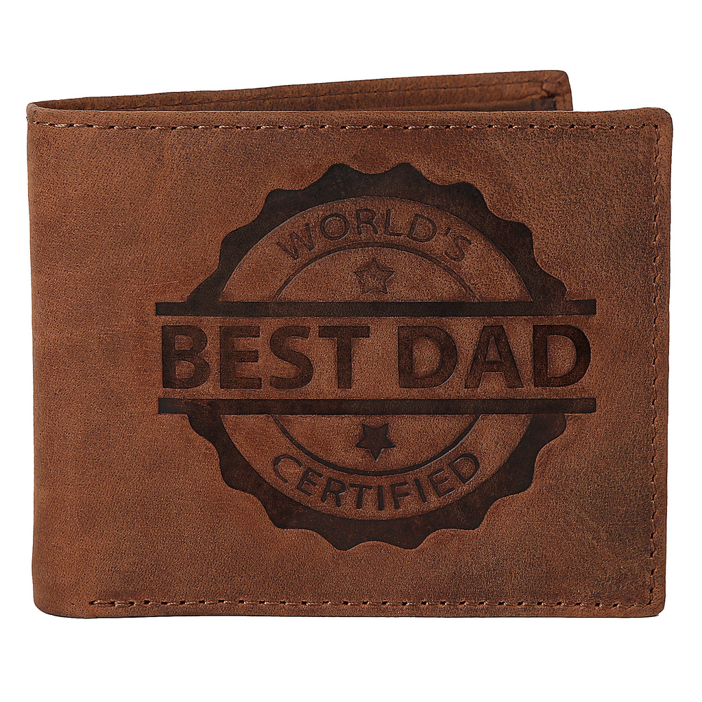 WILDHORN® Best Dad Men's Leather Wallet