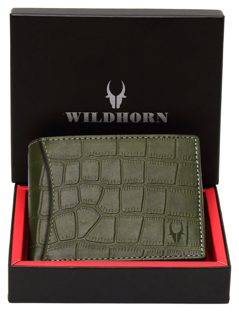 WildHorn® RFID Protected Genuine High Quality Leather Men's Wallet - WILDHORN